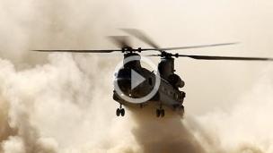 直升機起飛煙霧特效